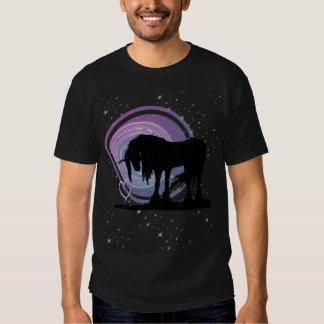 The Mystical Black Unicorn (Purple/Blue Swirl) Tees