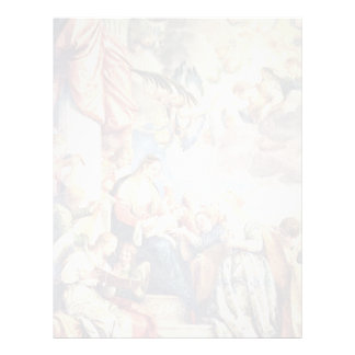 The Mystical Marriage Of St. Catherine By Veronese Letterhead