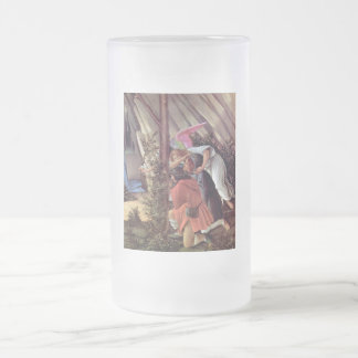 The Mystical Nativity Frosted Glass Beer Mug