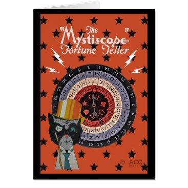 Halloween Themed The Mystiscope Fortune Teller Card