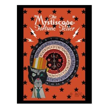 Halloween Themed The Mystiscope Fortune Teller Postcard