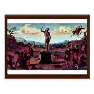 The Myth Of Prometheus Painting Sequence Of Five P Postcard
