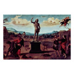 The Myth Of Prometheus Painting Sequence Of Five P Print