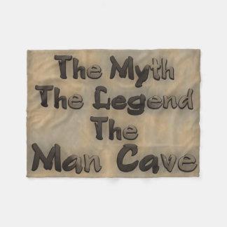 The Myth The Legend The Man Cave Fleece Blanket