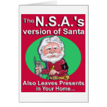 The N.S.A.'s Version of Santa Greeting Cards