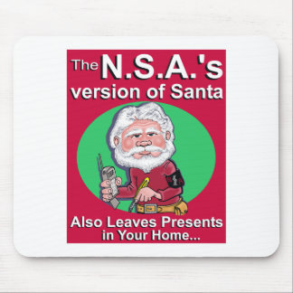 The N.S.A.'s Version of Santa Mouse Pad
