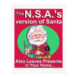 The N.S.A.'s Version of Santa Personalized Flyer
