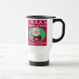 The N.S.A.'s Version of Santa Travel Mug