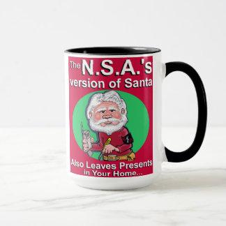 The N.S.A. Version of Santa Mug