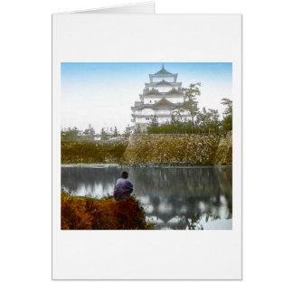 The Nagoya Castle of Old Japan Vintage Japanese Card