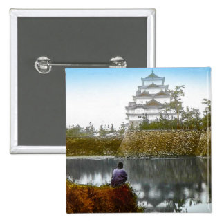 The Nagoya Castle of Old Japan Vintage Japanese Pinback Button