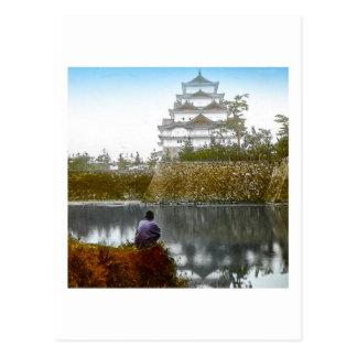 The Nagoya Castle of Old Japan Vintage Japanese Postcard