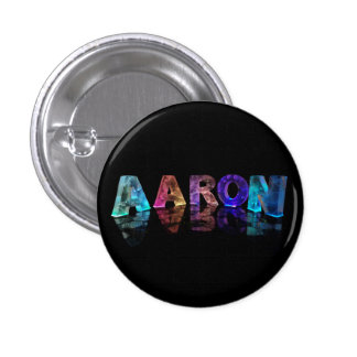 The Name Aaron in Lights Pinback Button