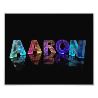 The Name Aaron in Lights Photo Print