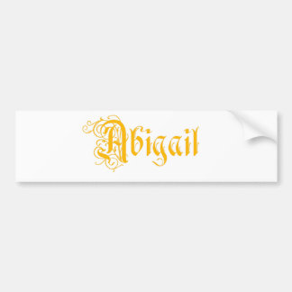 The Name Abigail in Beautiful Old Word Calligraphy Bumper Sticker