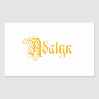 The Name Adalyn in Beautiful Old Word Calligraphy Rectangular Stickers