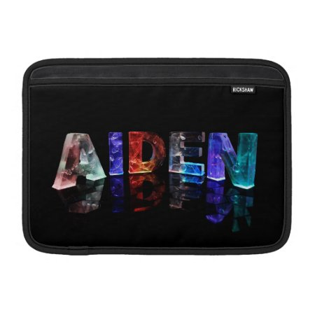 The Name Aiden in Colored Lights Sleeves For MacBook Air