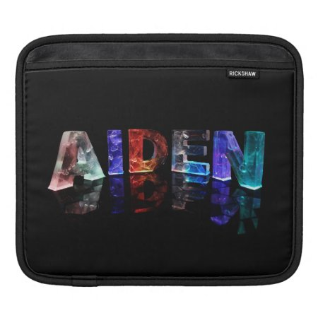 The Name Aiden in Colored Lights Sleeve For iPads