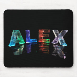 The Name Alex in Lights Mouse Pad