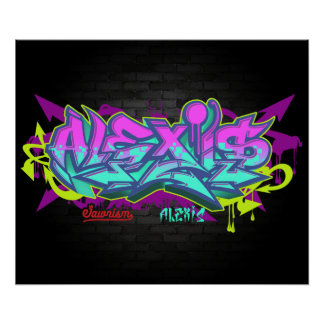 The name Alexis in graffiti Poster