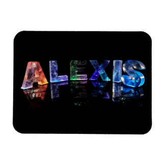 The Name Alexis in Lights Rectangular Photo Magnet