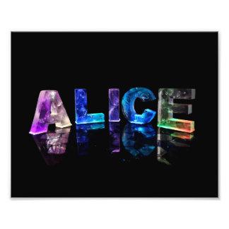 The Name Alice in Lights Photo Print