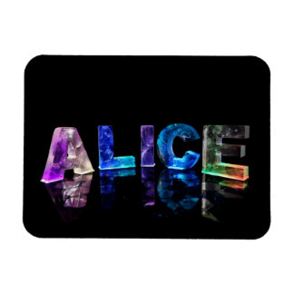 The Name Alice in Lights Flexible Magnets