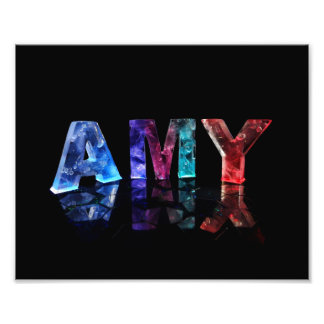 The Name Amy in Lights Photo Print