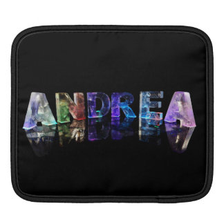 The Name Andrea in Lights iPad Sleeve