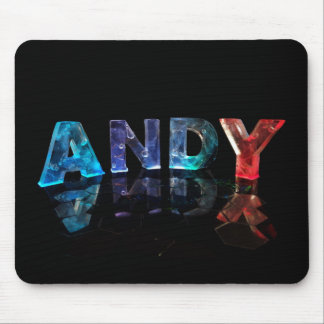 The Name Andy in Lights Mouse Pad