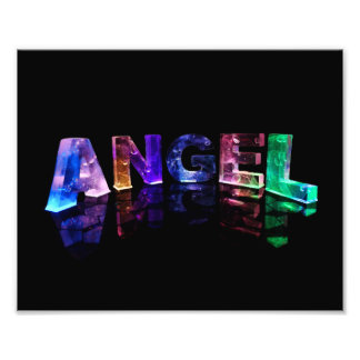 The Name Angel in 3D Lights Photo Print
