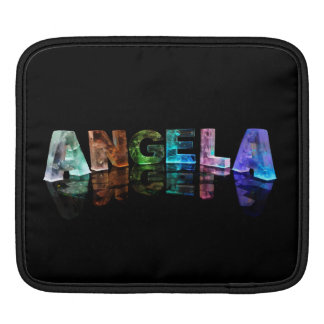 The Name Angela in Lights Sleeve For iPads