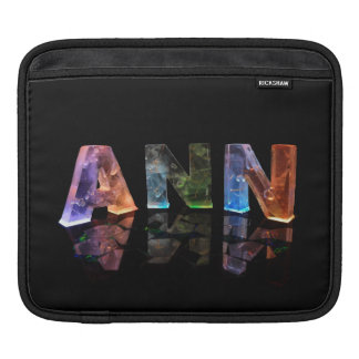 The Name Ann in Lights Sleeve For iPads