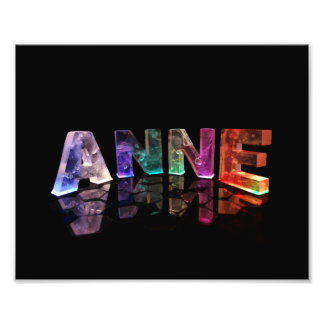 The Name Anne in Lights Photo Print