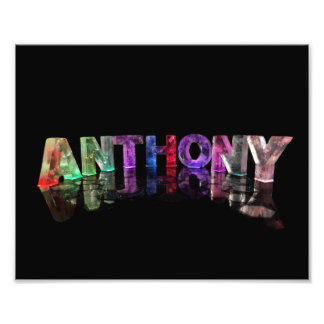 The Name Anthony in Lights Photo Print