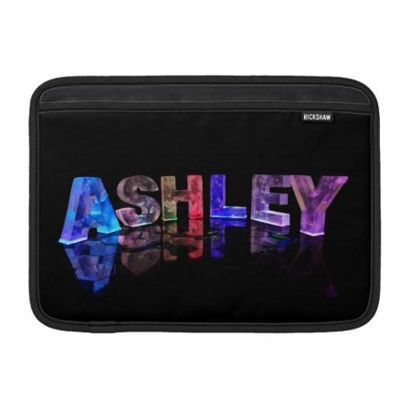 The Name Ashley in 3D Lights Sleeves For MacBook Air