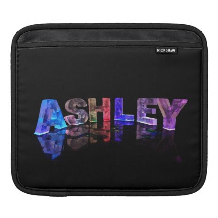 The Name Ashley in 3D Lights iPad Sleeves