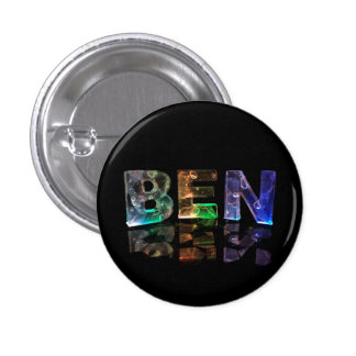 The Name Ben in 3D Lights Button