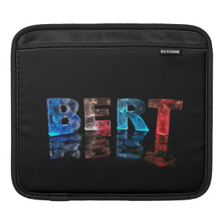 The Name Bert in 3D Lights iPad Sleeve