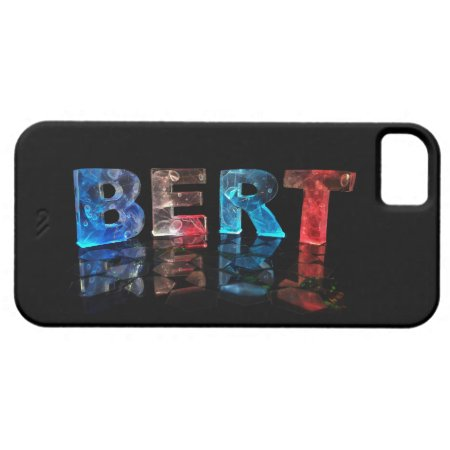 The Name Bert in 3D Lights iPhone 5 Case