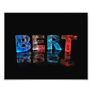 The Name Bert in 3D Lights Photo Print