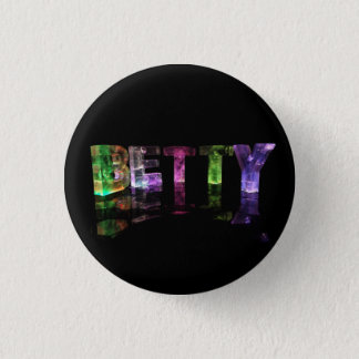 The Name Betty in 3D Lights Button