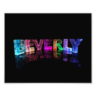 The Name Beverly in 3D Lights Photo Print