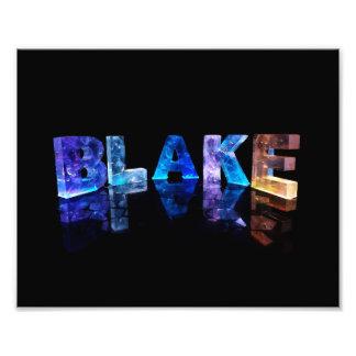 The Name Blake in 3D Lights Photo Print