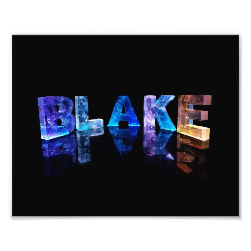 The Name Blake in 3D Lights Photo