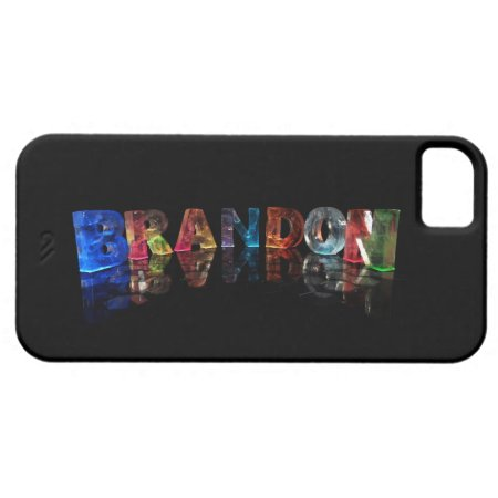 The Name Brandon in 3D Lights iPhone 5 Case