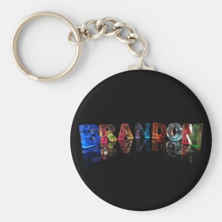 The Name Brandon in 3D Lights Key Chains
