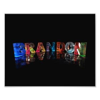 The Name Brandon in 3D Lights Photo Print