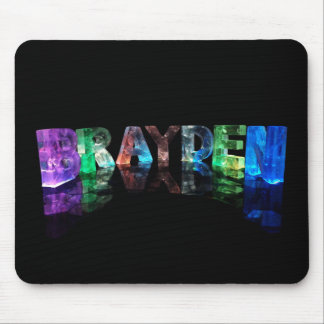 The Name Brayden in 3D Lights Mouse Pad