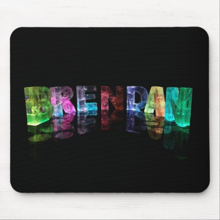 The Name Brendan in 3D Lights Mousepads